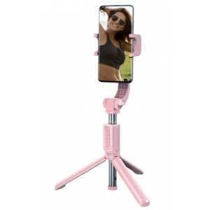 Монопод-трипод Baseus Lovely Uniaxial Bluetooth Folding Stand Selfie Stabilizer Pink