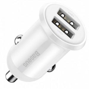 АЗУ Baseus Grain Pro Car Charger (Dual USB 4.8A ) White CCALLP-02