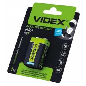 Батарейка VIDEX 6LR61 9V BLI 1 Крона (12/96)
