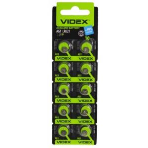 Батарейка VIDEX AG1(lr621) BLI 10 цена за упаковку