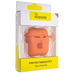 Чехол AIRPODS Silicone case NEW (№56) Orange