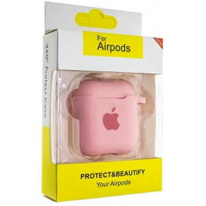 Чехол AIRPODS Silicone case NEW (№6) Pink