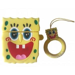 Чехол for AirPods BIG HERO Sponge Bob Yellow