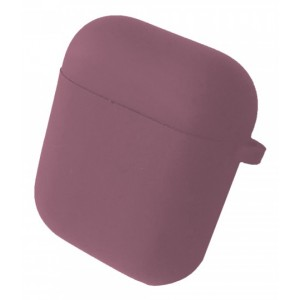 Чехол for AirPods 1/2 SILICONE CASE/MICROFIBER Blueberry
