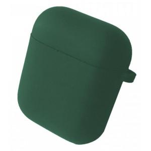 Чехол for AirPods 1/2 SILICONE CASE/MICROFIBER Dark green