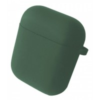 Чехол for AirPods 1/2 SILICONE CASE/MICROFIBER Pine green