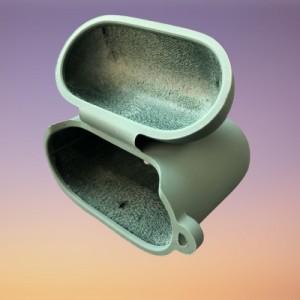 Чехол for AirPods 1/2 SILICONE CASE/MICROFIBER Black