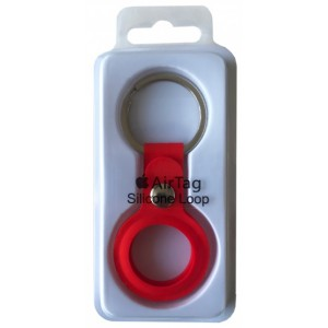 Брелок Silicone Key Ring for AirTag Red
