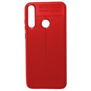 Силикон Auto Focus кожа Huawei Y7p 2020 red
