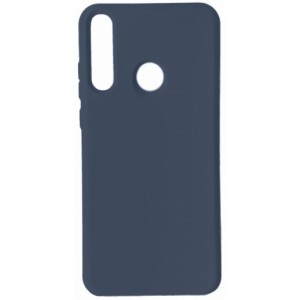 GRAND Full Silicone Cover for Huawei P40 Lite e / Y7p navy blue
