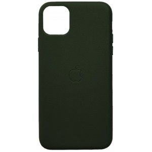 Накладка Leather Case Full for iPhone 12 /12 Pro green