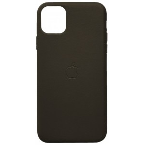 Накладка Leather Case Full for iPhone 12 /12 Pro grey