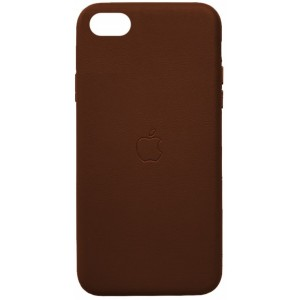 Накладка Leather Case Full for iPhone 7/8 brown