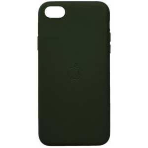 Накладка Leather Case Full for iPhone 7/8 green
