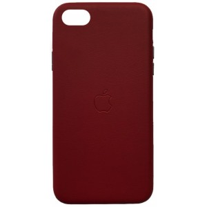 Накладка Leather Case Full for iPhone 7/8 red