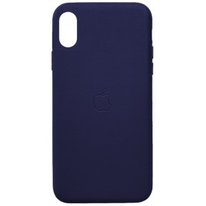 Накладка Leather Case Full for iPhone XS Max blue