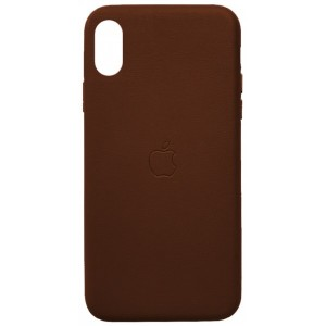 Накладка Leather Case Full for iPhone XS Max brown