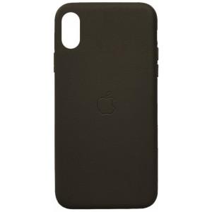 Накладка Leather Case Full for iPhone X/XS grey