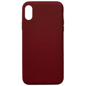 Накладка Leather Case Full for iPhone X/XS red