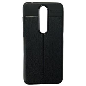 Силикон Auto Focus кожа Nokia 5.1 Plus/X5 black