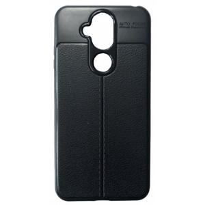 Силикон Auto Focus кожа Nokia 7.1 Plus/X7 black