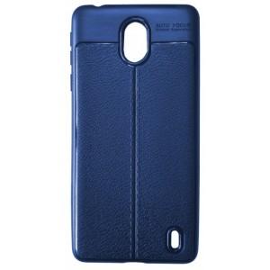 Силикон Auto Focus кожа Nokia 1 Plus blue