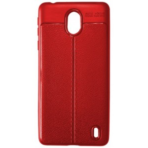 Силикон Auto Focus кожа Nokia 1 Plus red