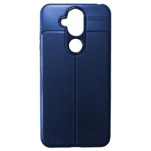 Силикон Auto Focus кожа Nokia 7.1 Plus/X7 blue
