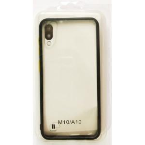 Накладка Gingle Clear Case Samsung A10 (A105) black/yellow
