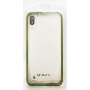 Накладка Gingle Clear Case Samsung A10 (A105) olive/orange