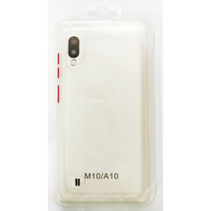 Накладка Gingle Clear Case Samsung A10 (A105) white/red