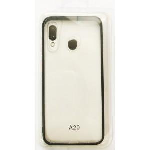 Накладка Gingle Clear Case Samsung A20 (A205)/A30 (A305) black/red