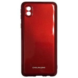 Силикон MOLAN CANO Glossy Jelly Case Samsung A01 Core (A013) marsala