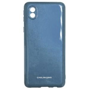 Силикон MOLAN CANO Glossy Jelly Case Samsung A01 Core (A013) metallic blue