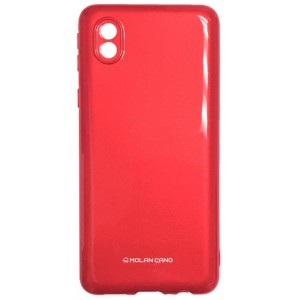 Силикон MOLAN CANO Glossy Jelly Case Samsung A01 Core (A013) red