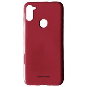 Силикон MOLAN CANO Glossy Jelly Case Samsung A11 (A115) marsala