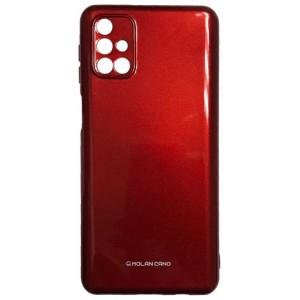 Силикон MOLAN CANO Glossy Jelly Case Samsung M31s (M317) marsala