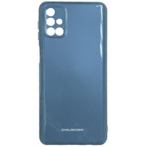 Силикон MOLAN CANO Glossy Jelly Case Samsung M31s (M317) metallic blue