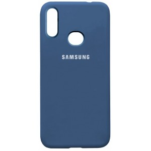 Silicone Case Full for Samsung A10s (A107) Navy Blue