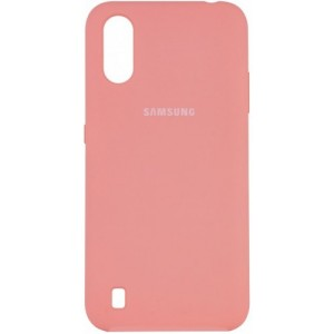 Silicone Case Full for Samsung A01 (A015) Pink