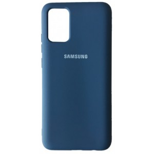 Silicone Case Full for Samsung A02S (A025) Navy Blue