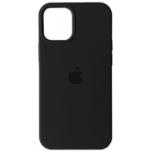 Silicone Case Full for iPhone 12 Pro Max (18) black