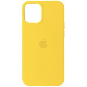 Silicone Case Full for iPhone 12 mini ( 4) yellow