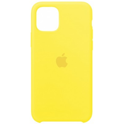 Silicone case for iPhone 11 (55) canary yellow
