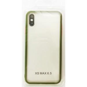 Накладка Gingle Clear Case iPhone XS Max olive/orange