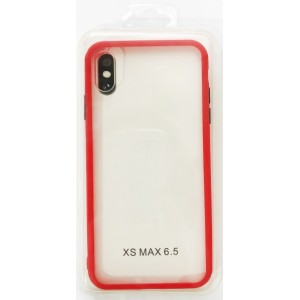 Накладка Gingle Clear Case iPhone XS Max red/black