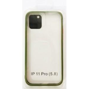 Накладка Gingle Clear Case iPhone 11 Pro Max olive/orange