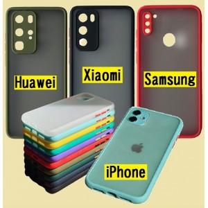 Накладка Gingle Matte Case Huawei P40 black/red