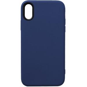 Силикон WOW Case iPhone X/XS dark blue