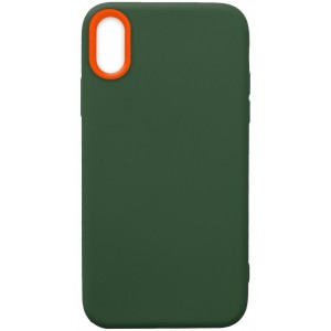 Силикон WOW Case iPhone XS Max dark green